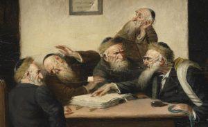 Carl Schleicher, Eine Streitfrage aus dem Talmud, c. 1859, [Public Domain] via Wikimedia Commons