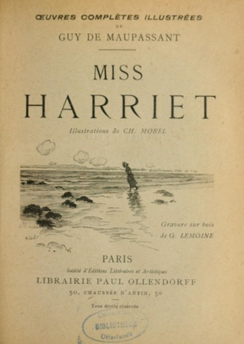 Cover for Guy de Maupassant's Miss Harriet