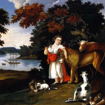 Peaceable Kingdom 1825 Painting by Edward Hicks