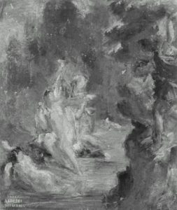 Eugene Delacroix's painting, Summer Diana Surprised at Her Bath by Actaeon, as an illustration of surprise.