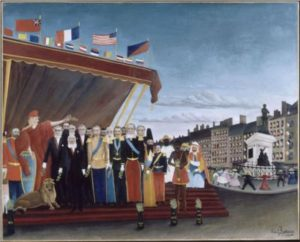 """Henri Rousseau's painting, """"The Representatives of Foreign Powers Coming to Salute The Republic as a Sign of Peace."""""""