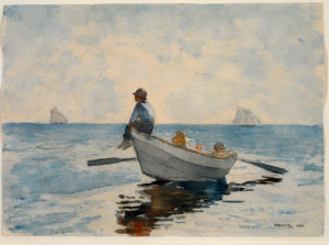 Winslow Homer's painting of boys in a boat.