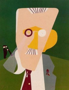 Eduardo Arroyo's Portrait de James Joyce