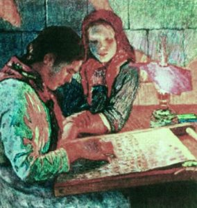 Nikolay Bogdanov-Belsky_At Work
