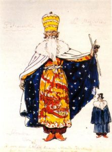 Alexandre Benois_Magician Costume Design