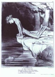 Honore Daumier_The Beautiful Narcissus