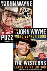 The John Wayne Ultimate Puzzle Book/The John Wayne Large Print Word Search Book: The Westerns