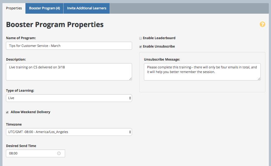 Program Properties