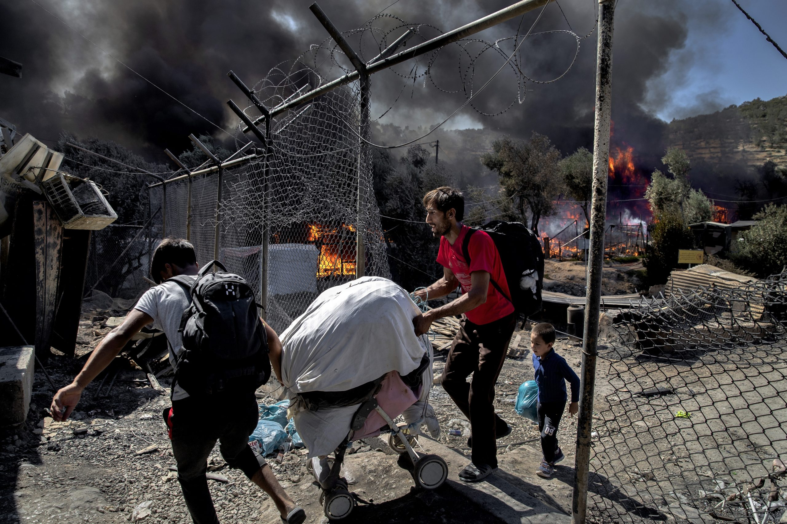 Devastating fire at Europe's largest camp for refugees and migrants