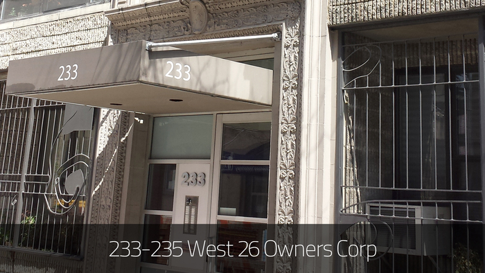 233 235 west 26 owners corp
