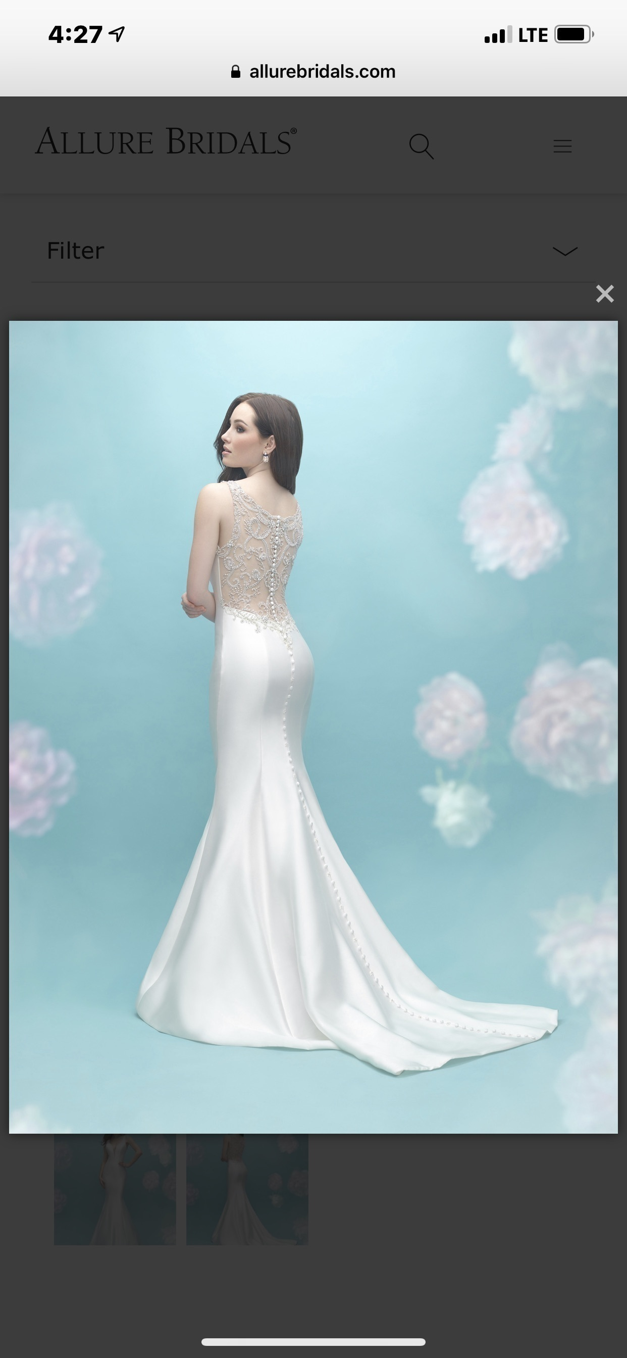 Allure bridals - 9451-I/ND/S size 16 - $800 - (56% OFF)
