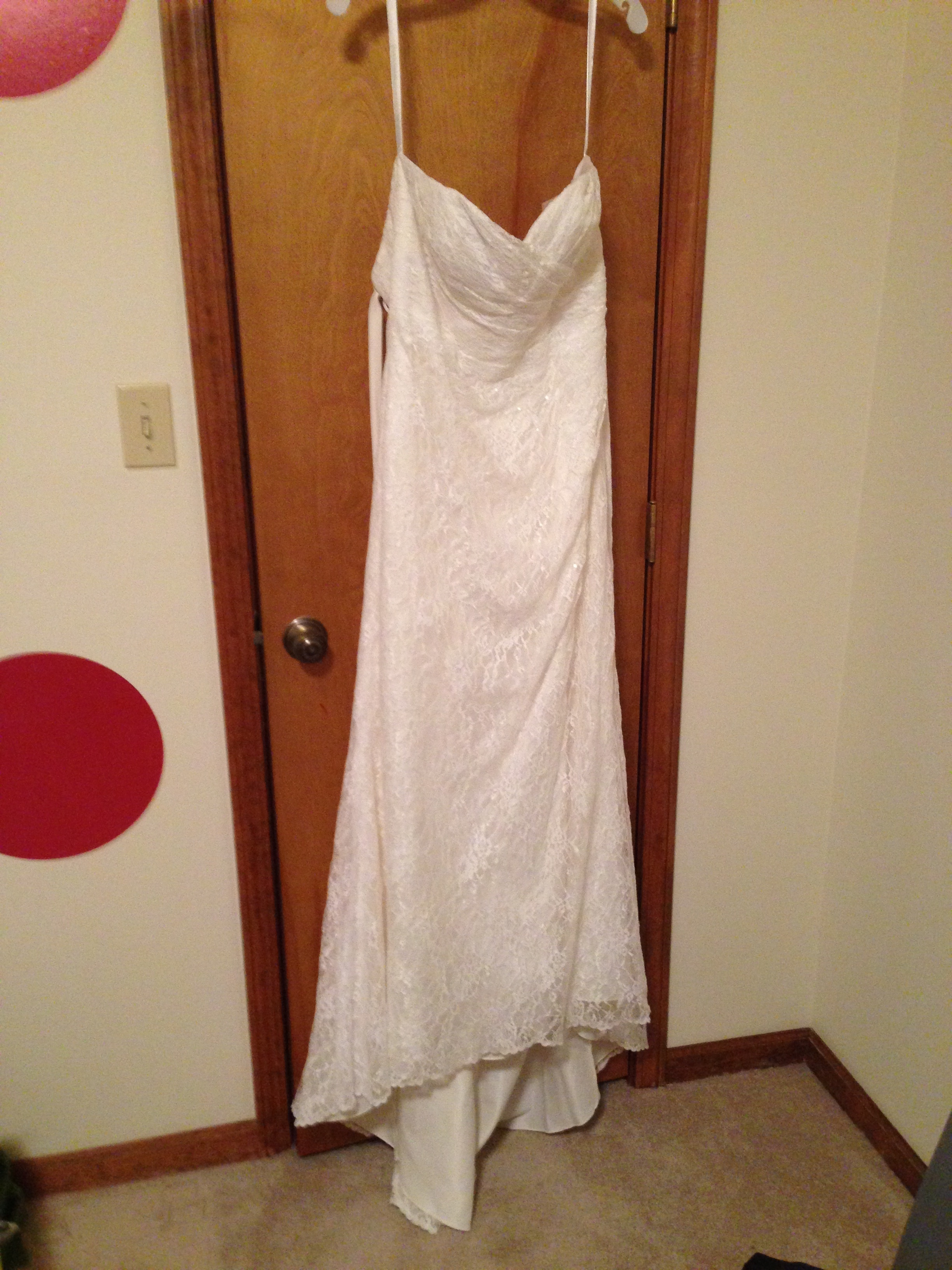 David's bridal - Sweetheart Strapless Lace Wedding Dress - WG3263 size 14 - $300 - (51% OFF)