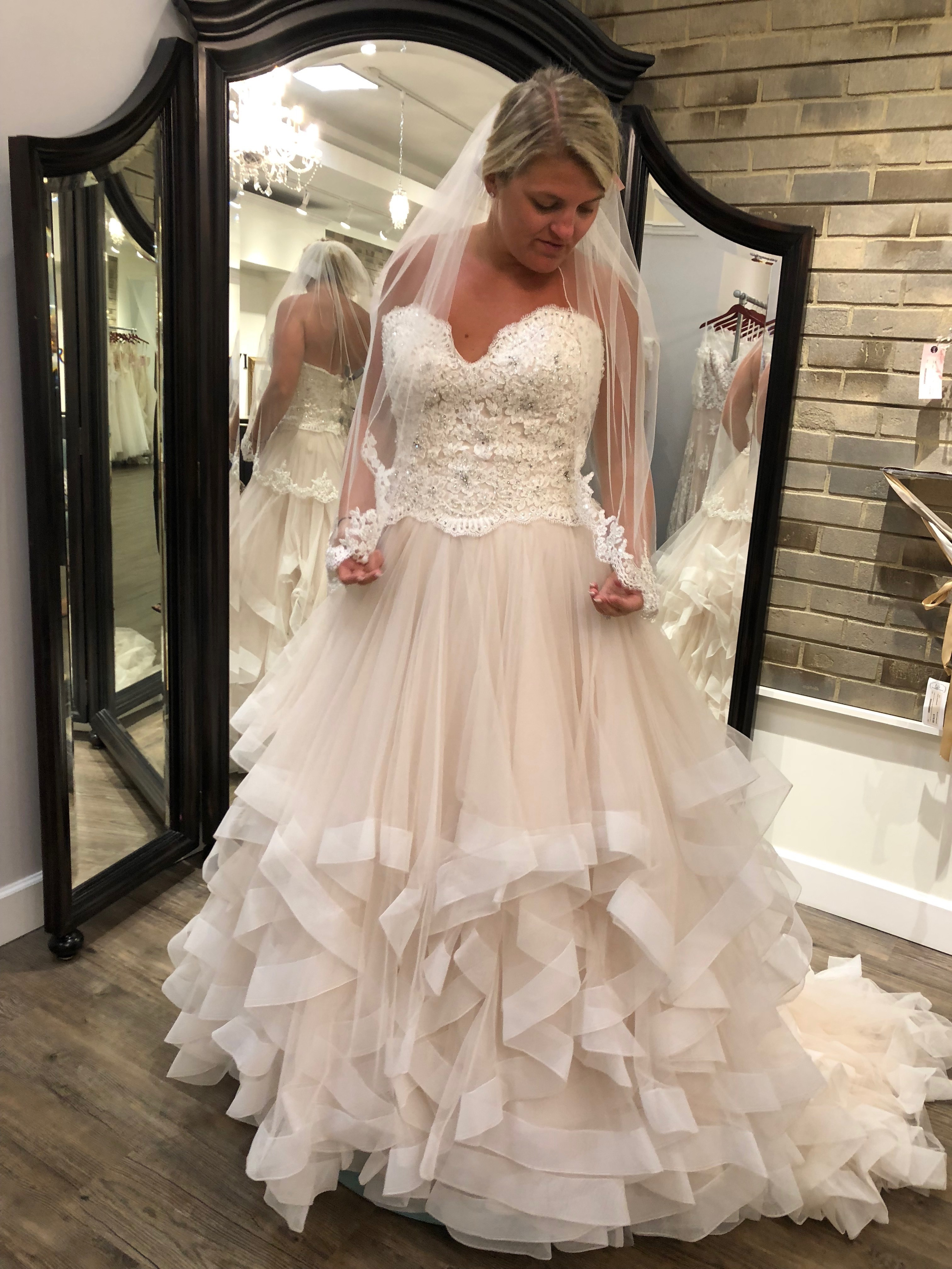 Marcia wedding dress - 8816 size 14 - $700 - (62% OFF)