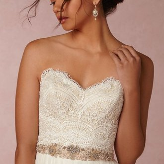 Watters - BHLDN KINSEY CORSET Item #37597119 size 12 - $375 - (50% OFF)