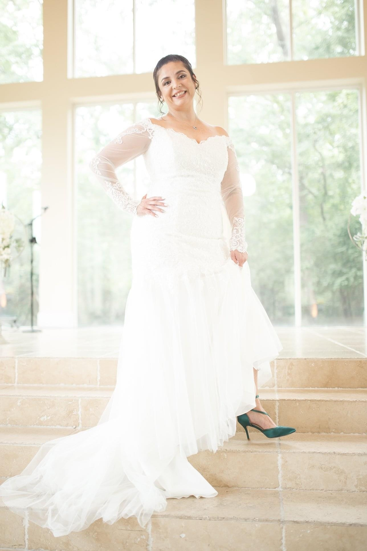 David's bridal - fit and flare size 14 - $1200 - (0% OFF)