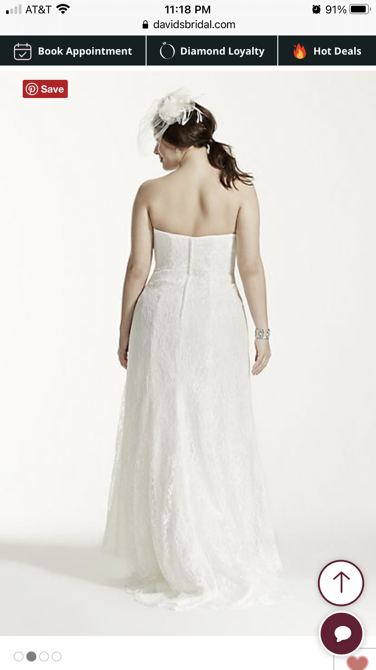 David's bridal - Lace Staple  size 14 - $400 - (11% OFF)