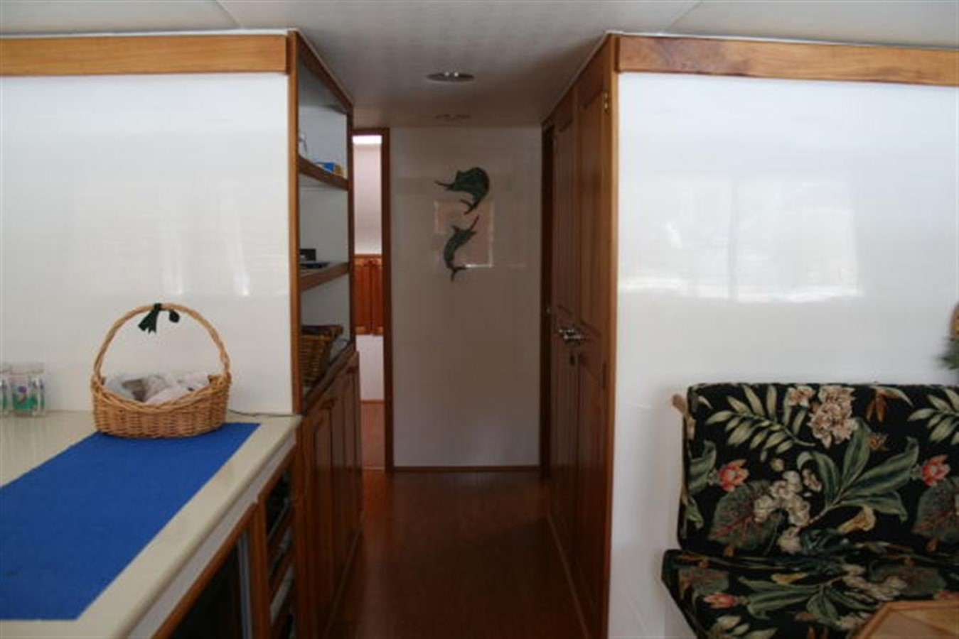 On-deck passageway forward to staterooms 1998 CUSTOM Mick Jarrod PowerCat Sportfisher/Dive Boat Catamaran 156651