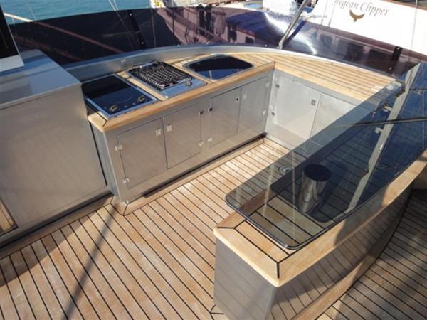 Fly bridge BBQ 2008 Noble Yachts 32SY Cruising Sailboat 416352