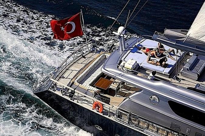 Sylver K sun deck aerial view 2008 Noble Yachts 32SY Cruising Sailboat 428298