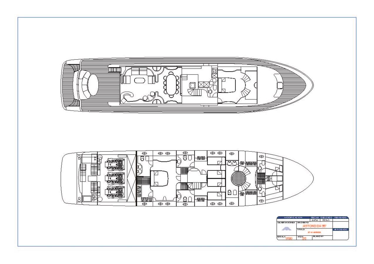 General arrangement_95' nº10  2003 ASTONDOA 95 GLX Motor Yacht 2781095