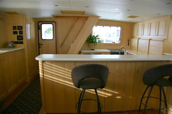 Main Deck Salon/galley looking aft 2008 CATMAN CATS Power Cat with enclosed pilot house Catamaran 648868
