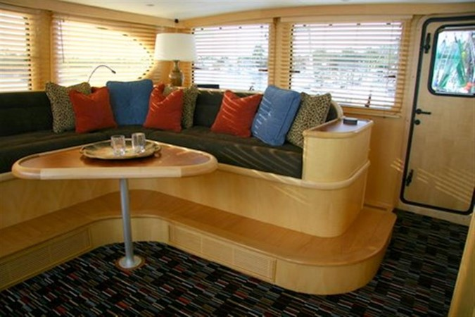 Skylounge looking aft 2008 CATMAN CATS Power Cat with enclosed pilot house Catamaran 648877