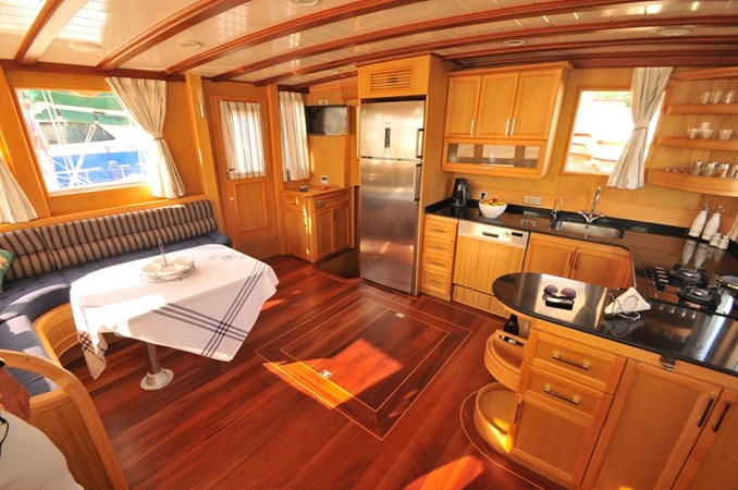 Salon/Galley Area 2014 Custom Ketch Ketch Cruising Sailboat 1314803