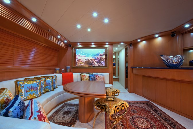 Lower Salon Looking Fwd 2002 PERSHING 88 Express Motor Yacht 1388125