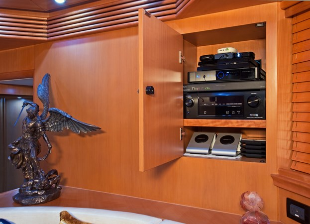 Lower Salon Entertainment Center 2002 PERSHING 88 Express Motor Yacht 1388141