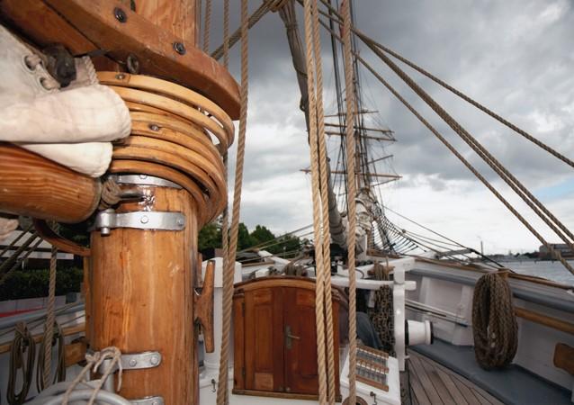 1942 CUSTOM BUILT Three Masted Topsail Schooner Tallship 1404069
