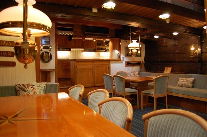 Dining Area 1942 CUSTOM BUILT Three Masted Topsail Schooner Tallship 1417178