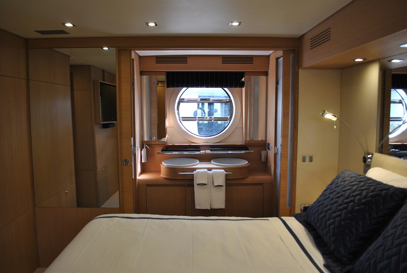 Master Stateroom Stb View Privacy Door Open 2008 AICON YACHTS  Motor Yacht 1431800