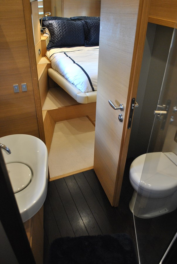 VIP Head View from Shower 2008 AICON YACHTS  Motor Yacht 1435119