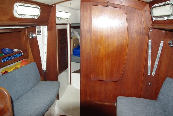 Forward bulkhead and table folded up 1984 TARTAN YACHTS  Aft Cockpit 1454962
