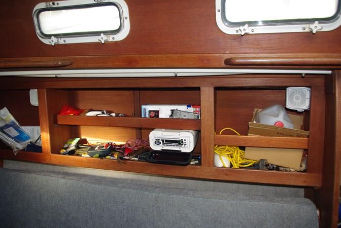 Starboard settee lockers and storage 1984 TARTAN YACHTS  Aft Cockpit 1454975