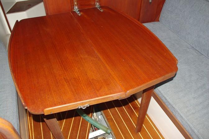 Salon table in the upright position 1984 TARTAN YACHTS  Aft Cockpit 1454976