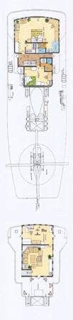 Layout - Bridge/Heli Deck 1960 DAVIE SONS  Expedition Yacht 1478095