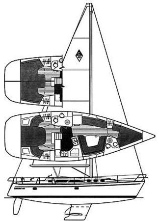 Manufacturer Provided Image 2002 CATALINA 400 MkII Cruising/Racing Sailboat 1526025