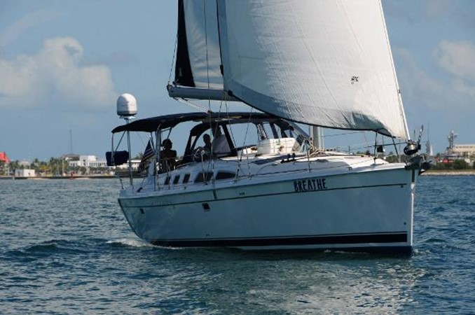 On the water starboard 2008 HUNTER 49 Cruising Sailboat 1657159