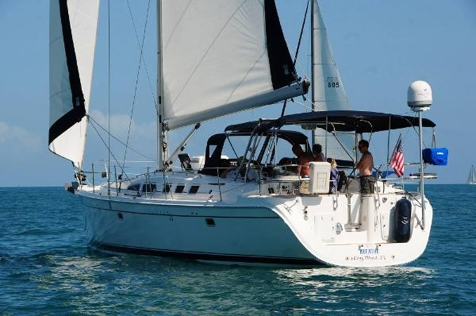 On the water with friends 2 2008 HUNTER 49 Cruising Sailboat 1657162