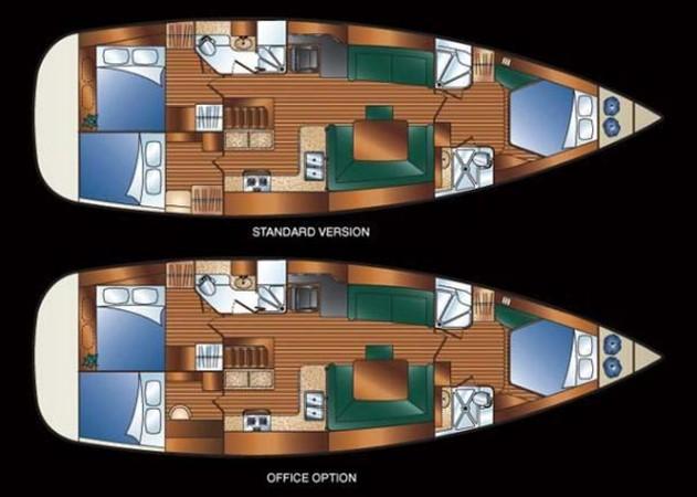 Layout plan 2008 HUNTER 49 Cruising Sailboat 1657165