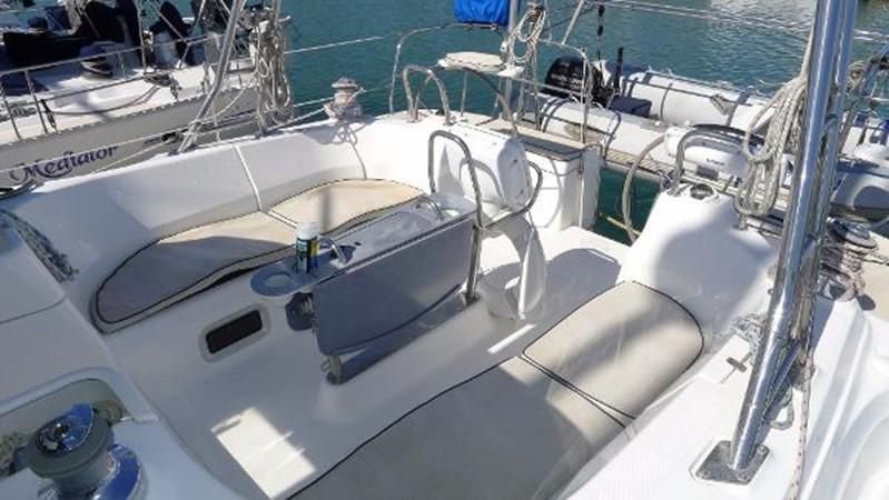 Cockpit w/ cushions 2008 HUNTER 49 Cruising Sailboat 1657172