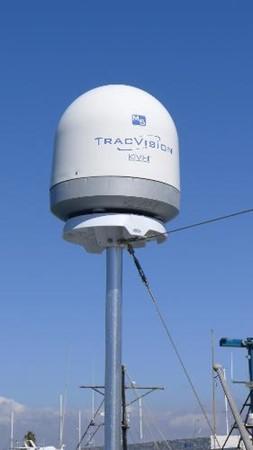 Trackvision Satellite TV antenna 2008 HUNTER 49 Cruising Sailboat 1657186