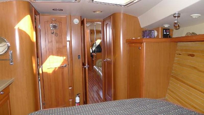 Forward cabin looking aft 2008 HUNTER 49 Cruising Sailboat 1657189
