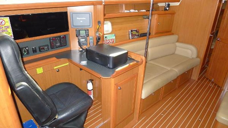 Nav station & port side sofa 2008 HUNTER 49 Cruising Sailboat 1657200