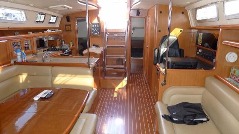 Main cabin aft 2008 HUNTER 49 Cruising Sailboat 1657210
