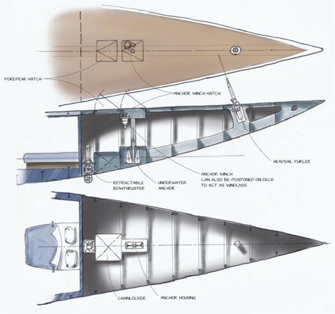 Concept for conversion bow 2011 BLOEMSMA & CLAASEN  Performance Sailboat 1660163