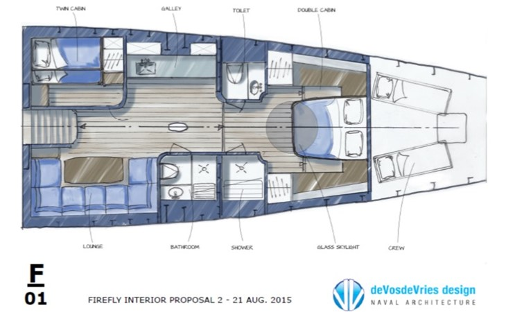 Concept for conversion - Interior 2 2011 BLOEMSMA & CLAASEN  Performance Sailboat 1660171