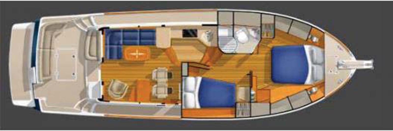 Shows Guest SR Dinette Lowered 2010 SABRE YACHTS  Motor Yacht 1670307