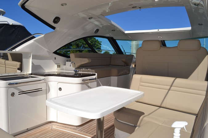 Aft Settee Looking Forward from Starboard side aft 2015 SEA RAY 410 Sundancer Motor Yacht 1685730
